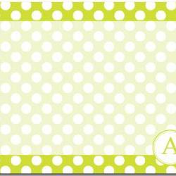 Polka Dots Dry Erase Message Board