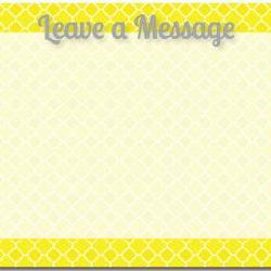 Quatrefoil Dry Erase Message Board